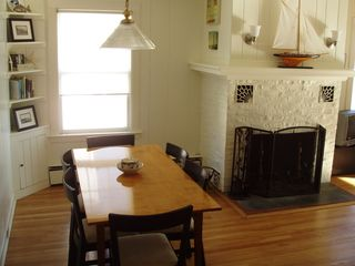 Guilford cottage photo - Dining room area and fireplace.