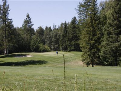 View of the 7th Green from the golf course side of the property