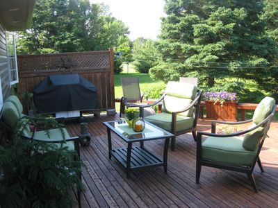 Back Deck - Sunny in the morning and shade and sun in the afternoon