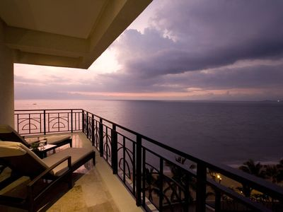 Puerto Vallarta condo rental - Balcony at Sunset