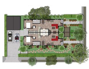 Hollywood house photo - Ground Level (showing both units) Floor Plan