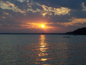 Another typically beautiful sunset over Big Platte Lake.