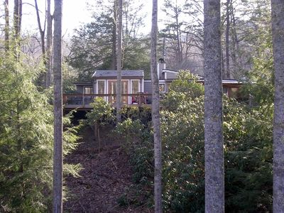 Black Mountain cottage rental - View from across the stream