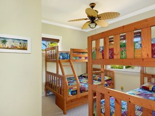 Princeville house photo - Bunk beds in kids room (4th bedroom)