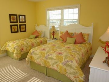 One of four bed rooms with a queen and twin