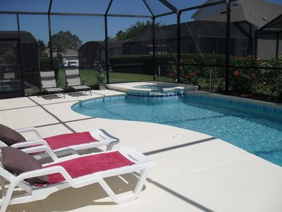Windsor Palms villa rental - Relax by the South Facing Pool