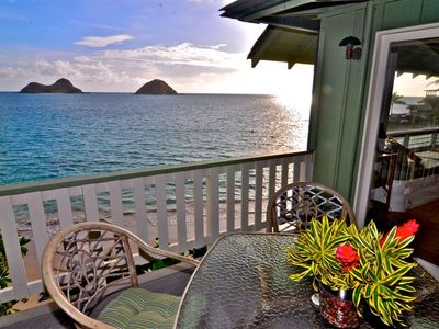 Lanikai house rental - A wonderful end to a beautiful day.