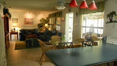 Kitchen, family room, florida room