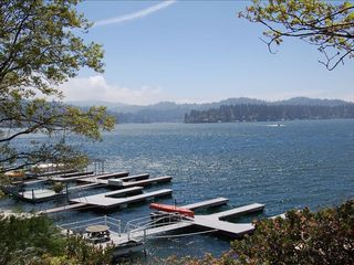 Lake Arrowhead cabin photo - Lake View of 5-10 minutes walking distance away in the private trail