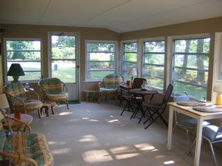 Brewster house photo - Relax in the spacious screened Porch