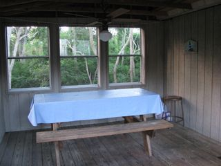 Wellfleet cottage photo - Enclosed porch