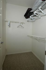 Walk in closet off of the bedroom
