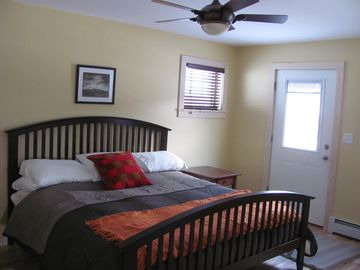 The Master Bedroom with King size bed and direct access to the spacious deck!