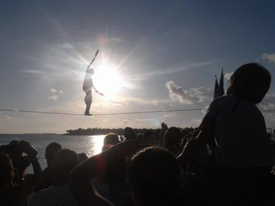 Sunset Celebration.. The fun of Mallory Square every night at sunset.