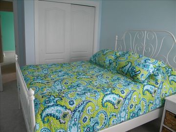 Upstairs bedroom with a very comfortable queen size bed