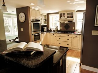 Fryeburg cottage photo - Kitchen island has seating for three.