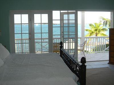 View from Master Suite with king size bed
