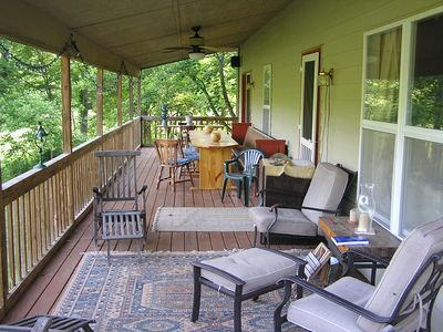 Back deck overlooking lawn
