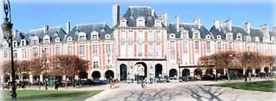 Place des Vosges is just at the corner of the street !