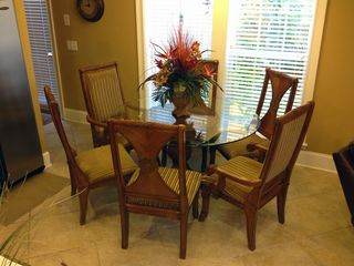 Thomas Drive Area house photo - Dining room glass table with six chairs