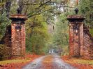 The main entry gates have welcomed guests to the plantation since the 1800s. - Georgetown estate vacation rental photo