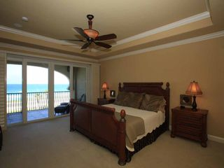 Flagler Beach condo photo - King Master Bedroom with Private Balcony overlooking the Atlantic.