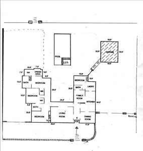 Bel Air house rental - Floor plan