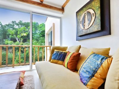 Playa del Carmen villa rental - Sitting are off of 2nd Floor Master with Pull Out Sofa Bed