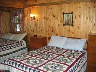 Burt Lake cabin photo - Big Bedroom 2- Located on ground floor lake side.