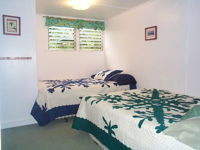 Garden Ohana second bedroom with 2 double beds.$189