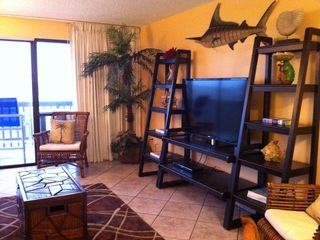 North Padre Island condo photo - Living room with beach view