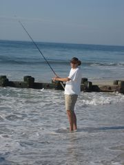Holgate house photo - Surf fishing out your backdoor!