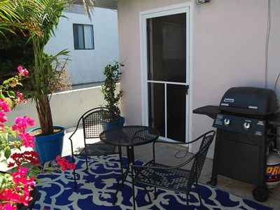 2nd Bedroom patio with barbecue