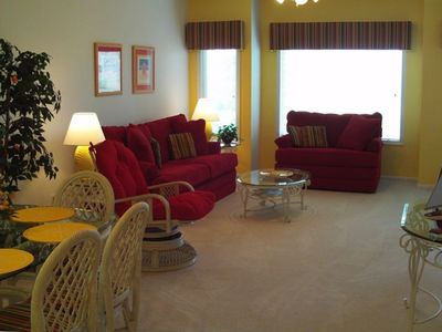 We've added new touches - carpet, accent walls and a great sleeper and loveseat!