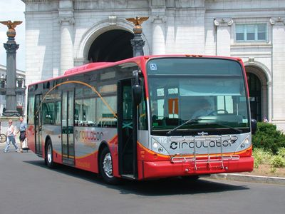 Circulator bus from Union Station (2 min bus stop from apt)