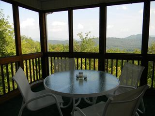 Hayesville cabin photo - View from screened porch