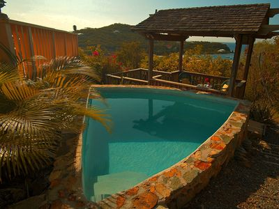 Chocolate Hole villa rental - Refreshing pool and gazebo