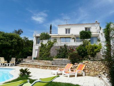 Frejus villa rental - Terrace & private pool for relaxing & entertaining