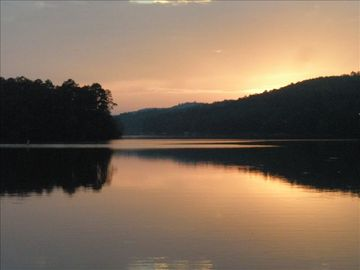 Hot Springs Village house rental - Comfy Dock Swing to enjoy Almost Nightly Beautiful Sunsets!!! Bring your Camera!