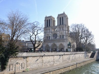 Notre-Dame cathedral is only 5 minutes walk