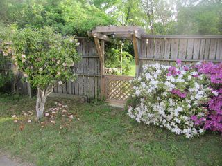 Manteo house photo - Garden gate to neighbor's yard