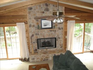 Massanutten house photo - .Cozy fireplace on a winter night