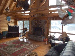 Ascutney cabin photo - Living room fireplace