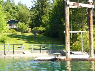 Port Alberni house rental - Enjoy the wharf on the crystal clear water, boats welcome