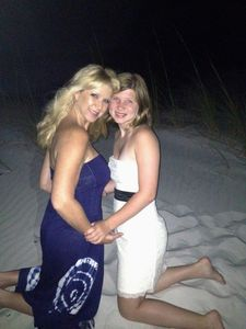 Me and my daughter taken on the beautiful white powdered sand beach of Destin.