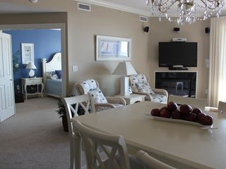 Belmont Towers Ocean City condo photo - View from Kitchen showing Living Room and entrance to Master Bedroom Suite