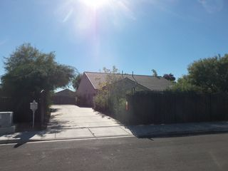 Las Vegas house photo - Front - Large Driveway and VERY Private property with bamboo and iron fencing