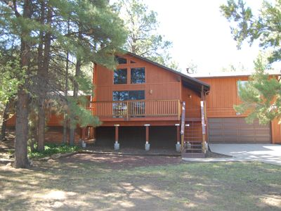 Front View of Cabin in the Summer