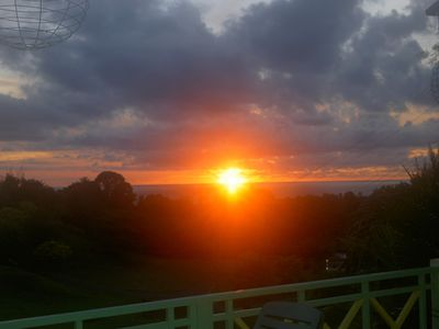 Tobago villa rental - A sunset from the terrace