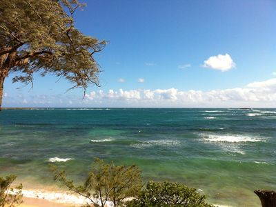 Laie cottage rental - View from yard